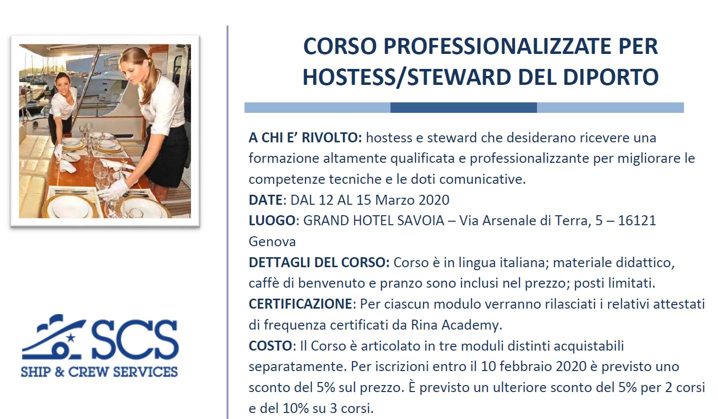 Corso - Hostess Steward del Diporto
